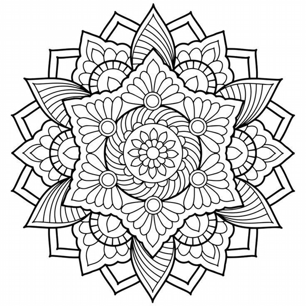 Схема шаблон бумажного круглого узора