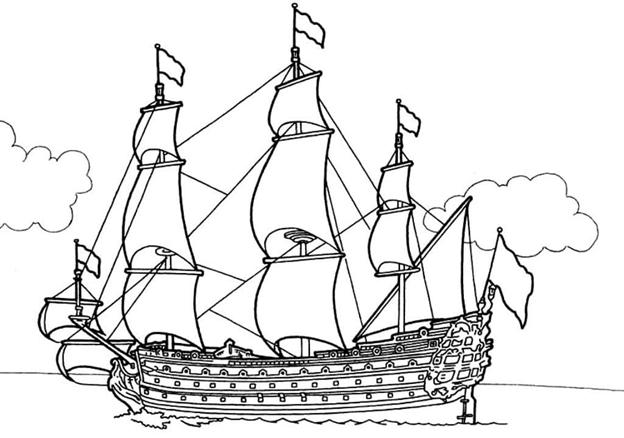 Квиллинг схема корабль