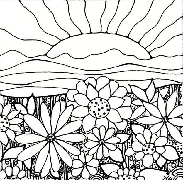 Рассвет на цветочной поляне