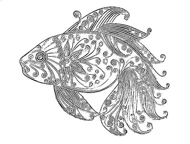 Шаблон рыбки