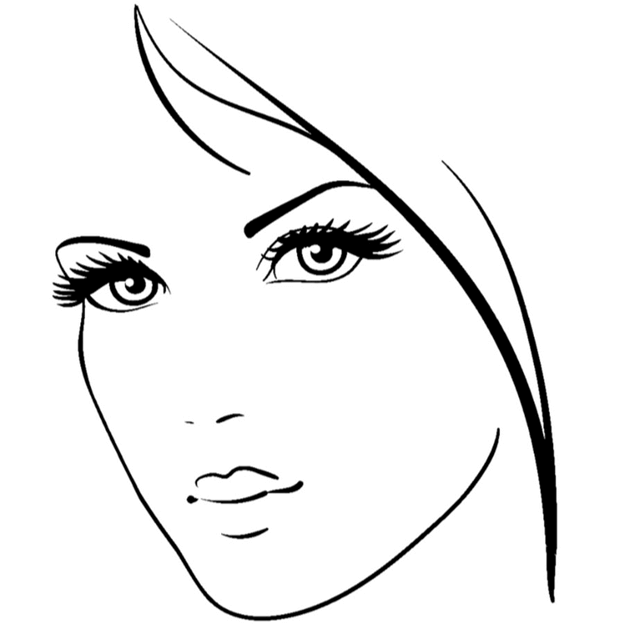Схема шаблон бумажного портрета девушки