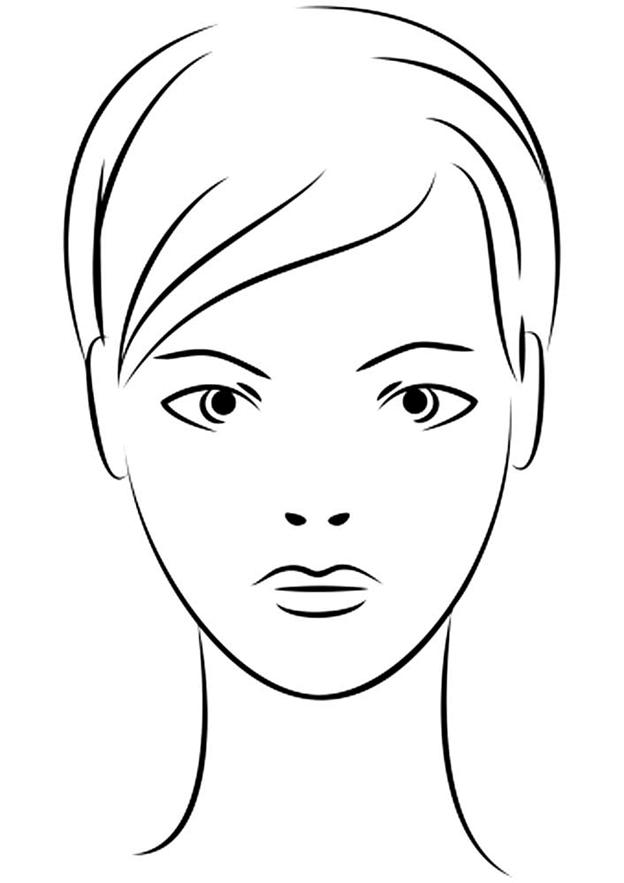 Схема шаблон бумажного портрета девушки в стиле контурного квиллинга