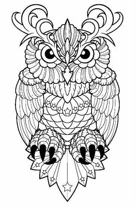 Схема шаблон бумажной совы