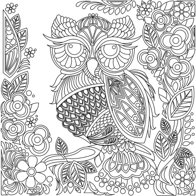 Схема шаблон бумажной цветочной совы