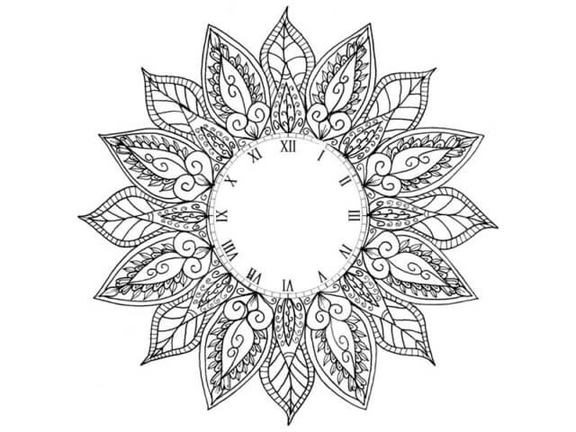 Схема шаблон бумажных часов
