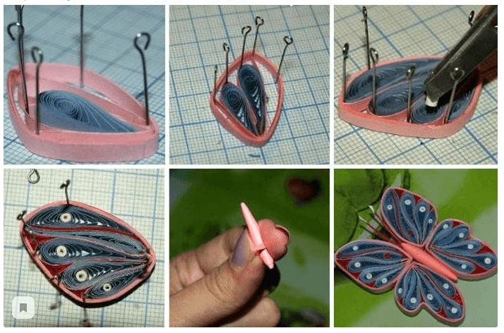 Пошаговая инструкция изготовления бумажной бабочки в технике квиллинга