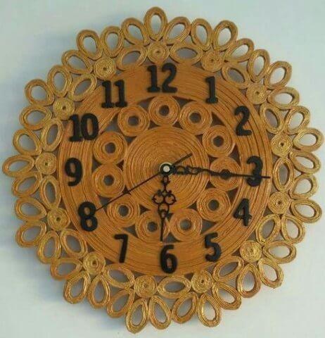 Классический вариант квиллинг часов