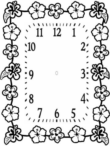 Оригинальная схема шаблон бумажных квадратных часов