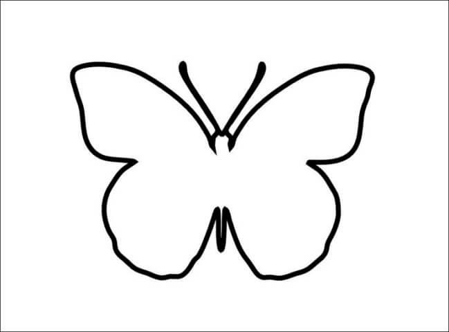 Трафарет бумажной бабочки для начинающих
