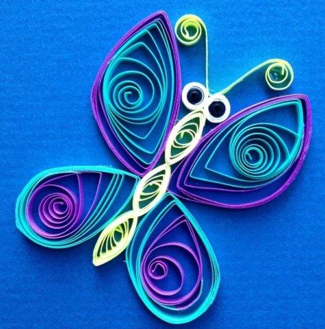 Готовая квиллинг бабочка