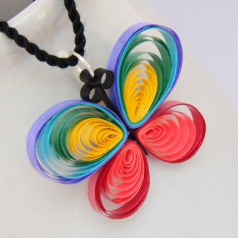 Пример готовой квиллинг бабочки