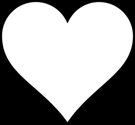 Схема шаблон бумажного объёмного сердца