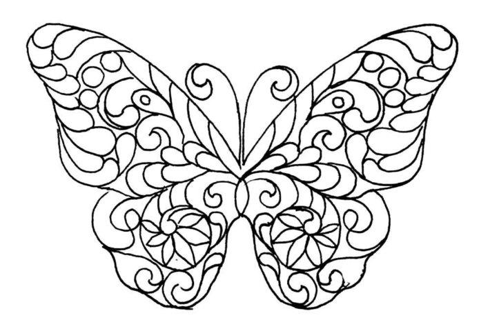 Схема шаблон бумажной бабочки