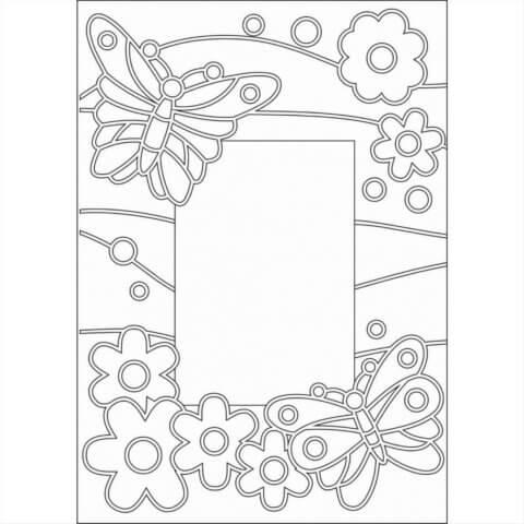 Схема шаблон бумажной фото рамки
