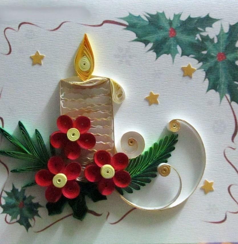 знакомства мастер класс новогодняя открытка свеча надежное жилье выгодным