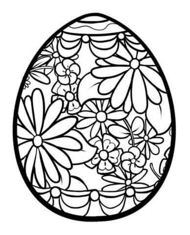 Схема шаблон бумажного ажурного яйца