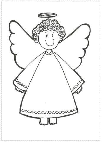 Схема шаблон бумажного ангела