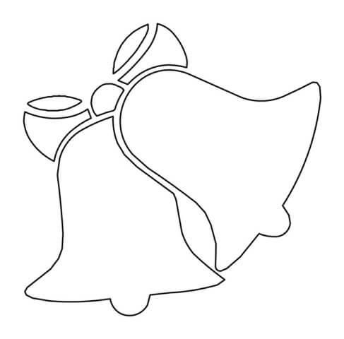 Схема шаблон бумажных колокольчиков