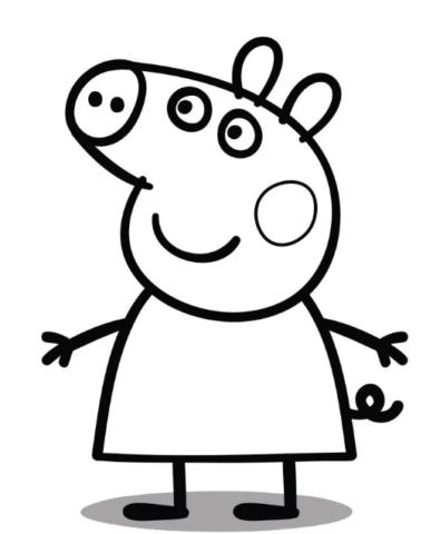 Схема шаблон бумажной свинки Пепе