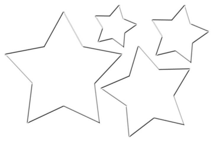 Схема шаблон бумажных звёзд