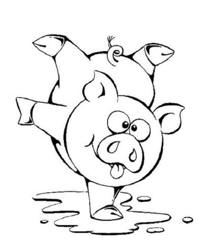 Схема шаблон бумажного свина