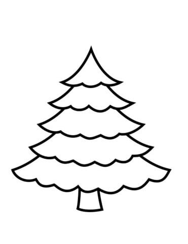 Схема шаблон бумажной Ёлочки