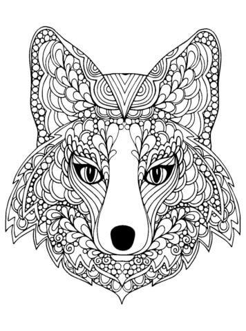 Схема шаблон бумажной волчицы