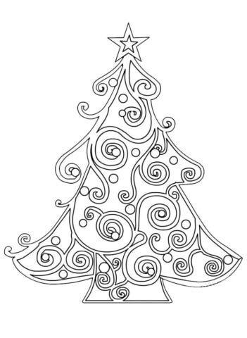 Схема шаблон для новогодней поделки украшения на ёлку