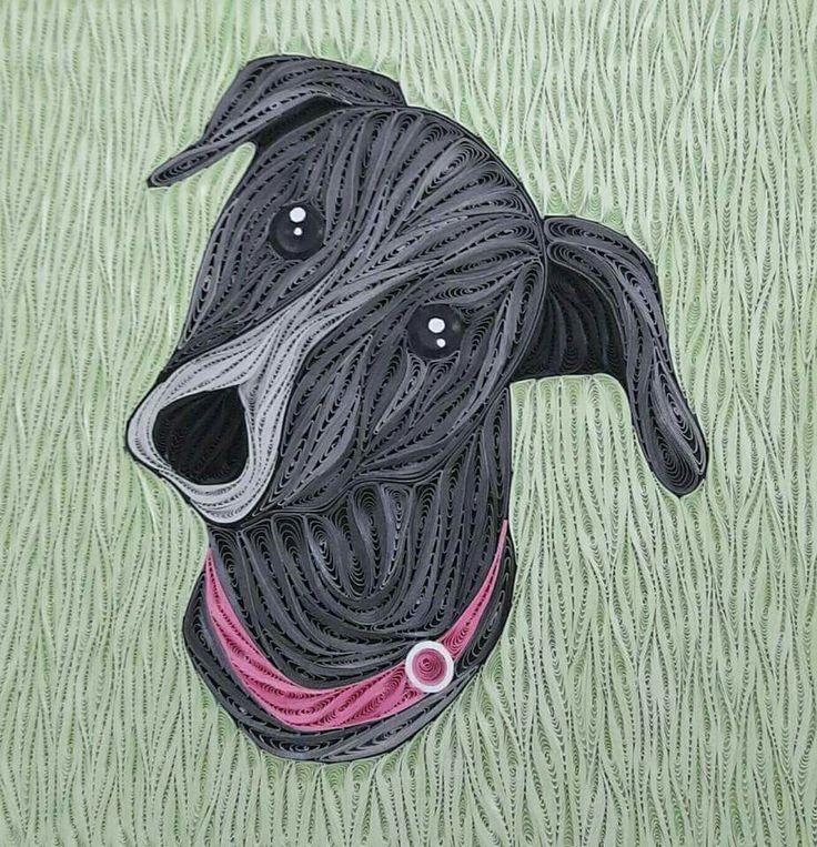 Собачка из квиллинга картинки