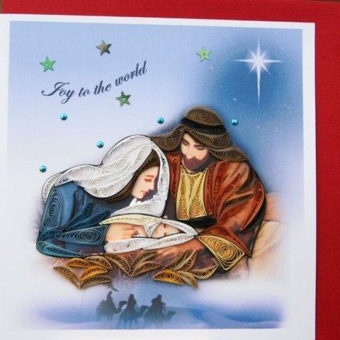 Готовая квиллинг поделка на Рождество