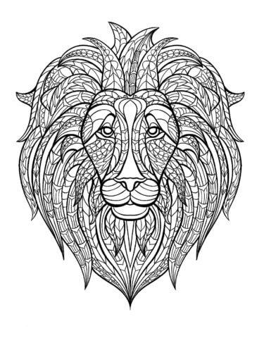 Схема шаблон бумажного льва