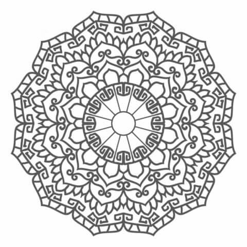 Мандалы схема шаблон