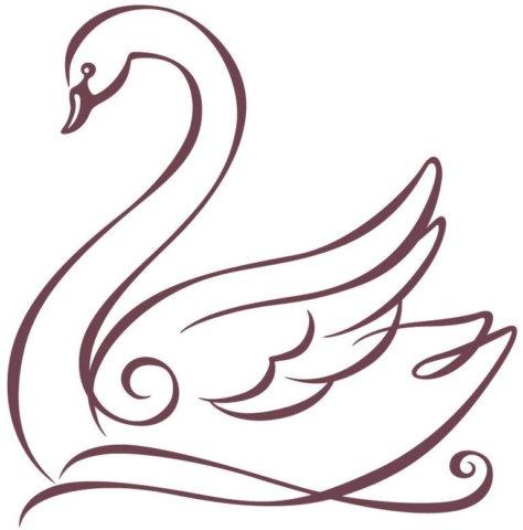 Схема шаблон Лебедь бумажный