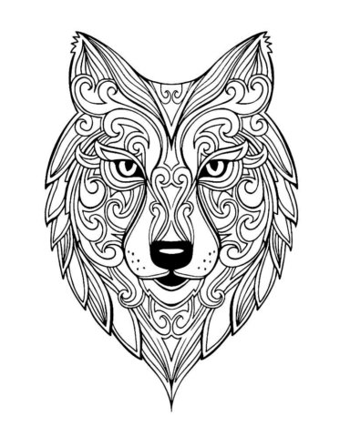 Схема шаблон бумажного волка