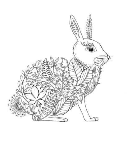 Схема шаблон бумажного зайца