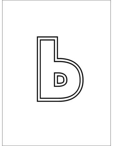 Схема шаблон буквы Ь русского алфавита