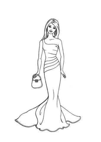Схема шаблон бумажного платья