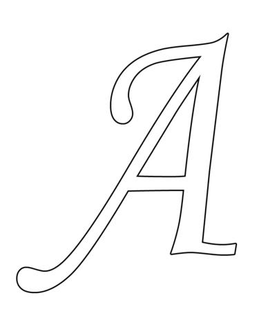 Схема шаблон буквы А русского алфавита