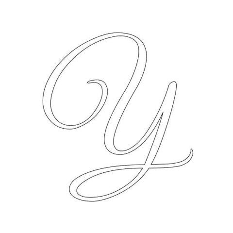 Схема шаблон буквы У русского алфавита