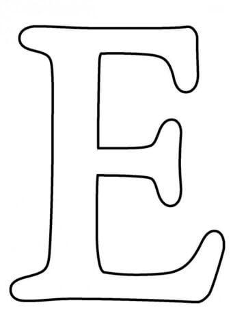 Схема шаблон буквы Е русского алфавита