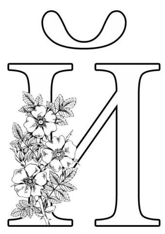 Схема шаблон буквы Й русского алфавита