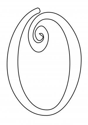 Схема шаблон буквы О русского алфавита