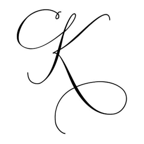 Схема шаблон буквы К русского алфавита