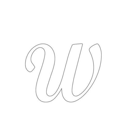 Схема шаблон буквы Ш русского алфавита