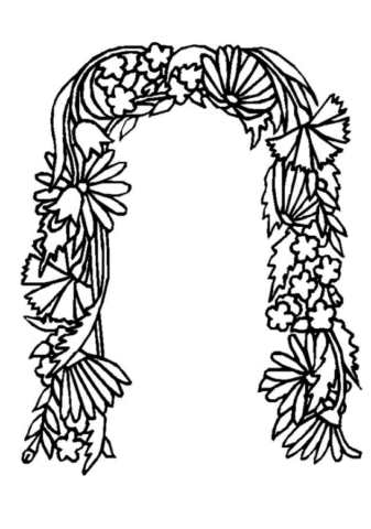 Схема шаблон буквы П русского алфавита