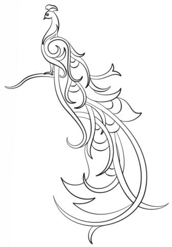 Схема шаблон Жар птица