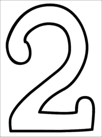 Схема шаблон цифры 2