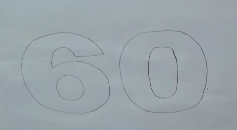 Трафарет для будущей цифры