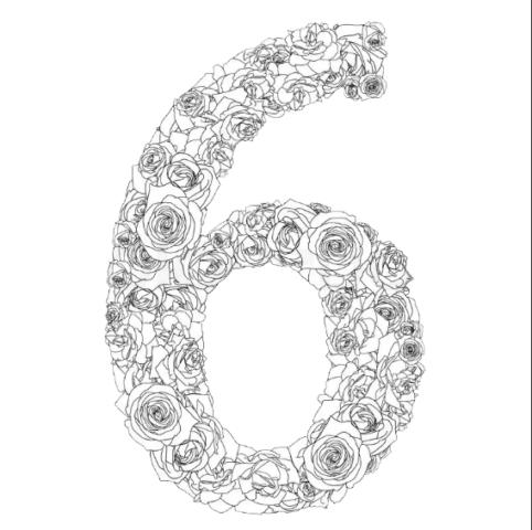 Схема шаблон цифры 6