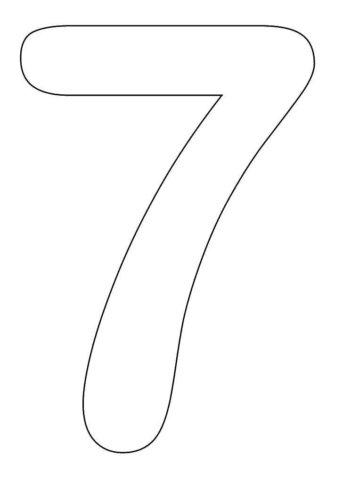 Схема шаблон цифры 7